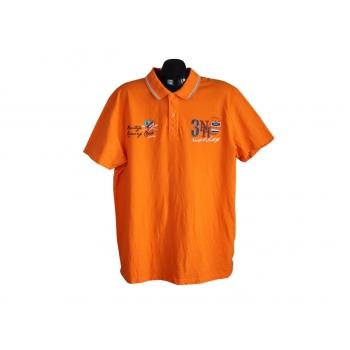 Поло мужское оранжевое CANDA, XL