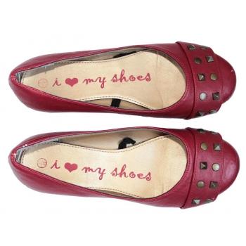 Женские красные балетки MY SHOES 35 размер