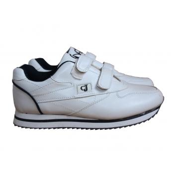 Мужские белые кожаные кроссовки  CJ 42 размер