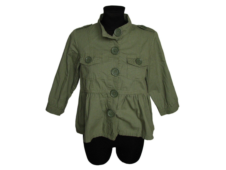 Женский зеленый жакет E-VIE, S