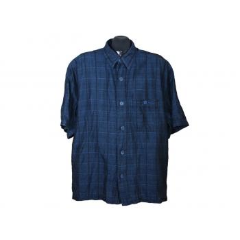 Мужская синяя льняная рубашка SIGNUM, XL