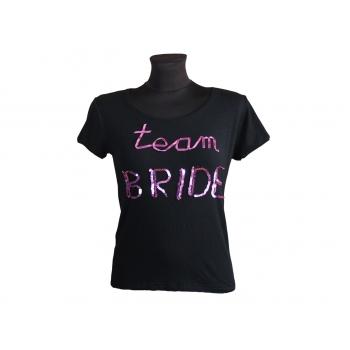Женская футболка с надписью TEAM BRIDE, М