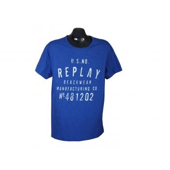 Футболка мужская синяя REPLAY, M