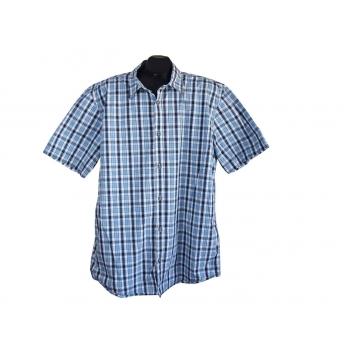 Рубашка мужская голубая в клетку TOM TAILOR, XL