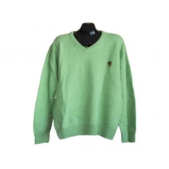 Пуловер шерстяной мужской зеленый EASY, XXL