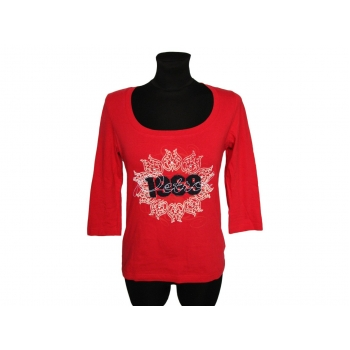 Женский красный реглан с принтом и надписью PETROL, S