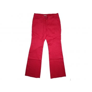 Женские красные льняные брюки, S