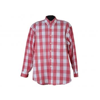 Мужская красная рубашка в клетку NAF NAF, XL