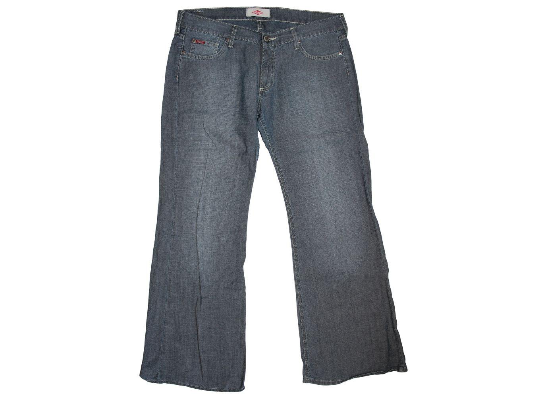Женские серые широкие джинсы LEE COOPER
