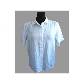 Женская белая льняная рубашка MARKS & SPENCER, S