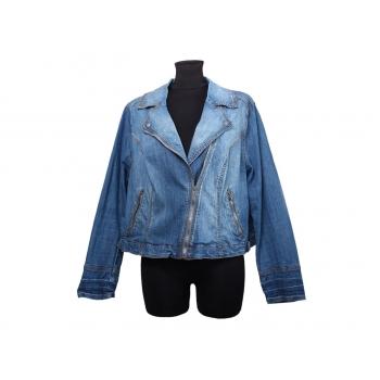 Женская синяя джинсовая куртка косуха XLVT, XL