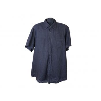 Мужская черная льняная рубашка HUGO BOSS, XXL