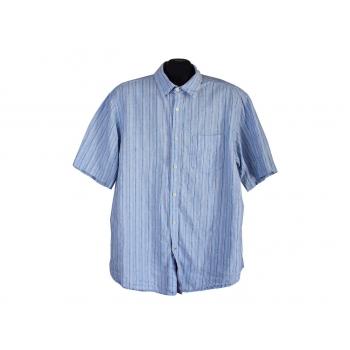 Мужская голубая льняная рубашка BLUE HARBOUR, XL