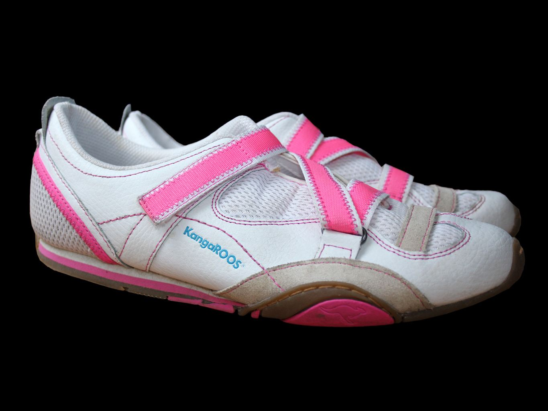 Женские белые кожаные кроссовки KANGAROOS 38 размер