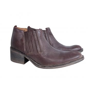 Женские кожаные коричневые туфли ботинки CITY UP 38 размер