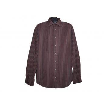 Мужская коричневая рубашка в полоску YVES SAINT-LAURENT