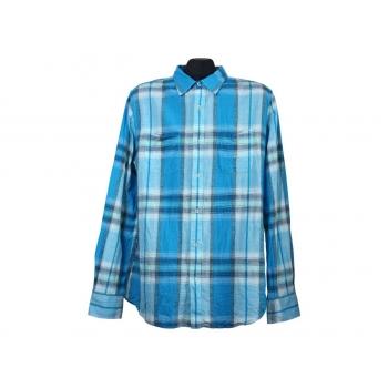 Мужская голубая рубашка в клетку SMOG, М
