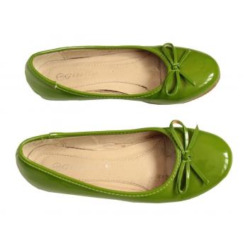 Женские зеленые балетки 36 размер