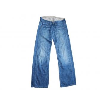 Женские прямые широкие джинсы