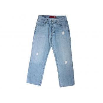 Мужские голубые рваные джинсы GUESS JEANS W 30 L 30