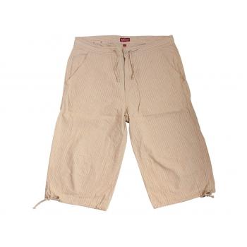 Мужские бежевые льняные шорты REDWOOD W 36