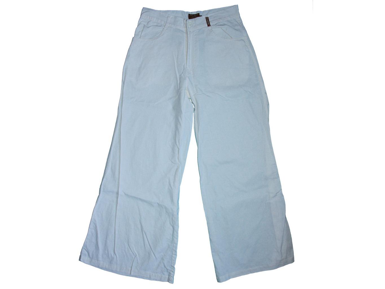 Женские белые льняные расклешенные брюки CARS, XS