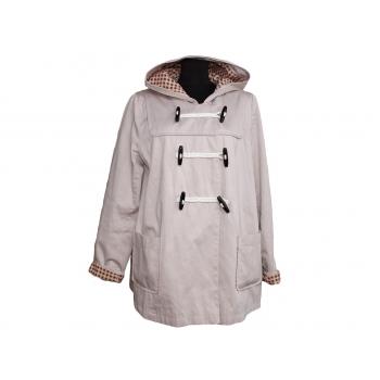 Женская бежевая демисезонная куртка с капюшоном TOP SHOP, М