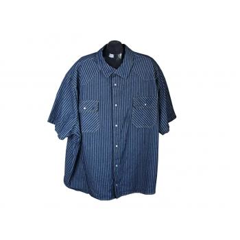 Мужская джинсовая рубашка KING SIZE, 6XL