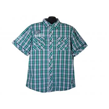 Рубашка мужская зеленая CAMP DAVID, XL