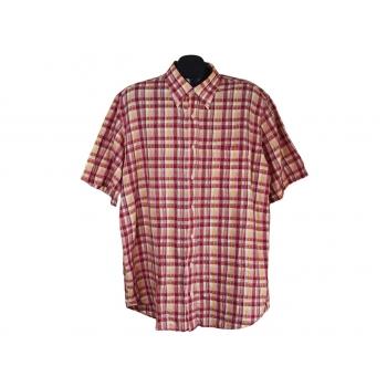 Мужская льняная красная рубашка PIERRE CARDIN, XL