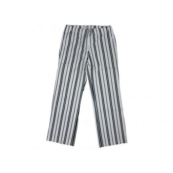 Женские белые брюки в полоску TOMMY  HILFIGER, S