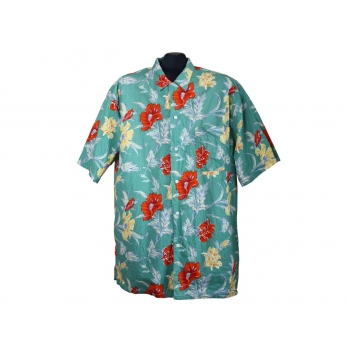 Мужская зеленая гавайская рубашка LET`S GO, XL