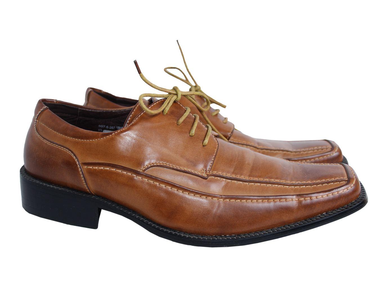 Мужские коричневые кожаные туфли MH COLLECTION 43 размер