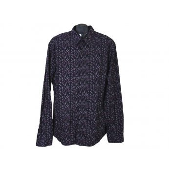 Рубашка мужская черная с рисунком H & M, XL