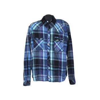 Рубашка мужская приталенная в клетку JACK & JONES, XL