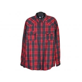 Рубашка мужская красная в клетку IDENTIC, 3XL