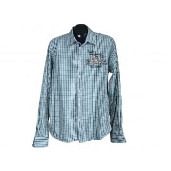 Рубашка мужская зеленая в клетку CAMP DAVID, L