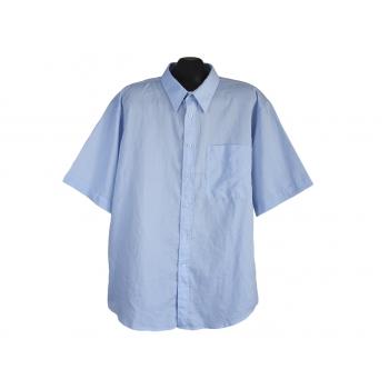 Рубашка мужская голубая BLUE, XXL