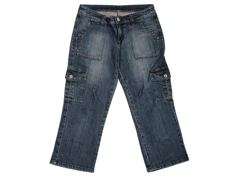 Женские джинсовые синие бриджи ESPRIT, S