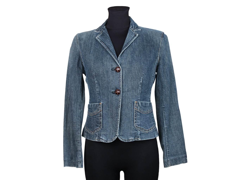 Женская синяя джинсовая куртка GAP, S