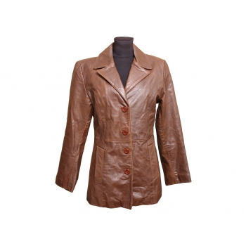 Женская коричневая кожаная куртка CAPRICCIO, L