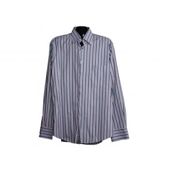 Мужская серая рубашка в полоску MELKA, L