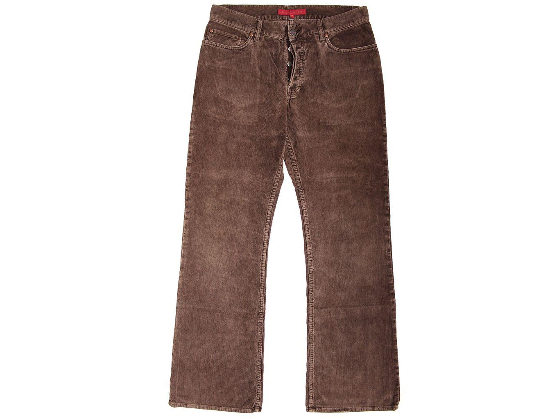 Мужские коричневые вельветовые брюки FCUK JEANS W 34