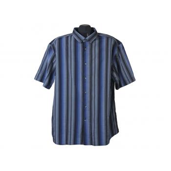 Рубашка мужская синяя в полоску BLUE HARBOUR, XL