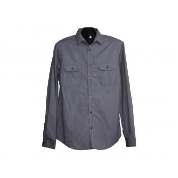 Мужская серая рубашка в полоску BURTON