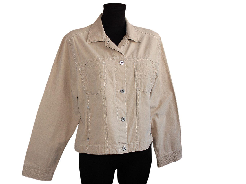 Женская бежевая куртка ETAM, L