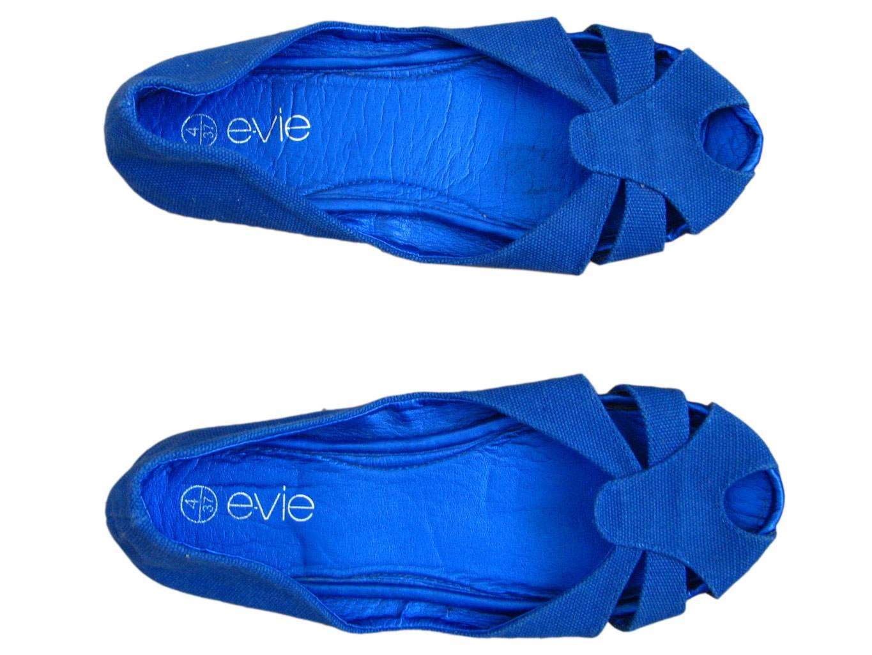 Женские синие балетки E-VIE 35 размер