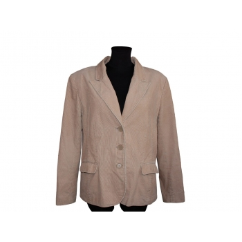 Женский бежевый вельветовый пиджак H&M