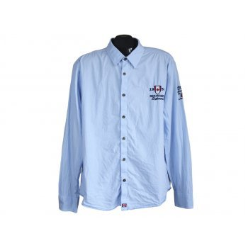 Рубашка мужская голубая JAKES, XL