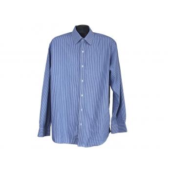 Рубашка мужская голубая в полоску GEORGE, L